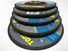 Metal Cutting Discs x5 115mm x 3.2mm x 22.2mm  Grinder Grinding Disc AB027