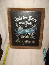 ANTIQUE AMERICAN/GERMAN FOLK ART GLASS W/ WOOD FRAME MILWAUKEE 1899 NEWSPAPER
