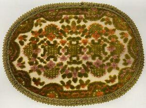 "Vintage Dollhouse Miniature Rug Carpet 9 1/2"" x 7"""