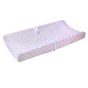 Carter's Pink & White Soft Plush Changing Pad Cover Baby Girl Nursery NEW