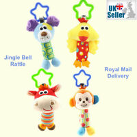 Baby Hand Bell Rattles Crib Pram Hanging Animal Stroller Car Seat Pushchair Toys