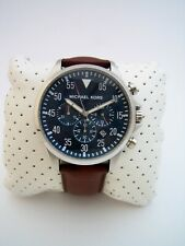 MICHAEL KORS GAGE MENS WATCH MK8362 STAINLESS STEEL CHRONOGRAPH LEATHER  GENUINE