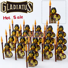 21PCS/Lot Femal Warrior Gladiatus Minifigures Medieval Knights Building blocks
