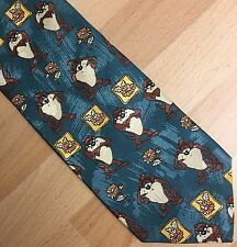 Gents Cartoon Character Novelty Fun Tie Taz Motif Looney Tunes
