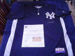NEW YORK YANKEES DEREK JETER signed 2009 GAME ISSUED BP JERSEY CAPTAIN STEINER