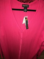 ~NWT~Maggie Barnes Coral Button Up Sweater Career Womens Size 1X 18/20