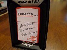 LUCKY STRIKE RARE 2 SIDED RED MATTE ZIPPO LIGHTER MINT IN BOX 2006