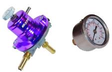 FSE SYTEC Ajustable Regulador De Presión De Combustible & calibre 1.5 - 6 bar púrpura MSV001P