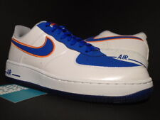 2014 NIKE AIR FORCE 1 NEW YORK KNICKS NY WHITE ROYAL BLUE ORANGE 488298-142 9
