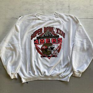 Vtg 80's Logo7 San Fransisco 49ers NFC Champs Crewneck Sweatshirt Size XL