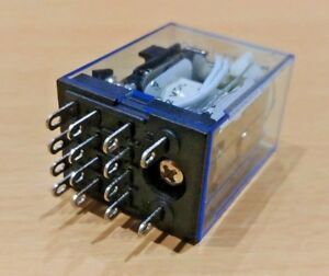 4 Pole Double Throw (4PDT) 12V 5 Amp DC Relay