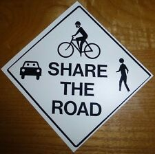 2X Share the Road Vinyl Sticker Decal fixie mtb Mountain road (2) bumper sticker