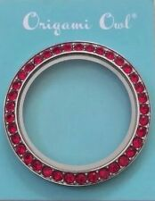 Origami Owl Large Twist Locket Face  Red Siam Crystals Ltd Ed (FACE ONLY)