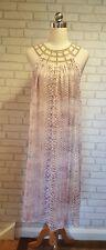 My Story Paris Bead collar Pink Snake Print Midi Dress BNWT One Size