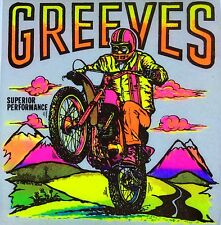 Original Vintage Greeves Iron On Transfer Motorcycle DAYGLO