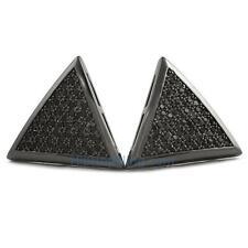 Triangle XL Black CZ Bling Bling Earrings