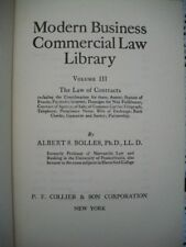 Modern Business Commercial Law Library Vol III (Albert S. Bolles, 1935 HC)