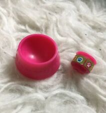 2 Pc Lot Pink Food Dish Can Cat Dog 1:6 Doll Yosd Barbie Monster Ever After High