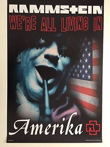 RAMMSTEIN, WE'RE ALL LIVING IN AMERIKA, RARE AUTHENTIC 2004  POSTER