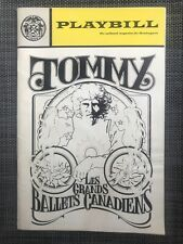 Tommy : Les Grands Ballets Canadiens Playbill, 1971 VGC