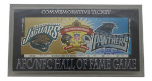 Bill Polian Autographed 1995 NFL Hall Of Fame Game Ticket Plaque BAS 32227