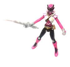 Morphin Samourai Power Rangers Femelle Rose Ranger & arme Toy Figure RARE