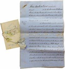 1879 Wales - HISTORIC GELLI HOUSE - WILLIAM REES - Manuscript Lease Indenture