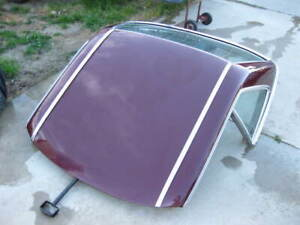 Mercedes R107 450SL Convertible Hardtop Roof Assembly Maroon (Very Clean)