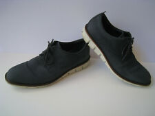 ECCO JEREMY PERFORATED NAVY NUBUCK TIE OXFORDS MEN SIZE US 9-9.5 EUR 43 HOT