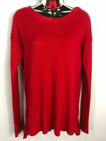 WOMENS GAP RED KNITTED JUMPER SWEATER PULL OVER SIZE EXTRA SMALL XS