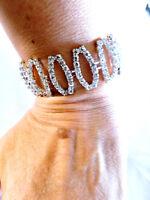 Rhinestone Austrian Crystal Bracelet Drag Queen Bridal Pageant Prom Large