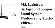 10ft  Video Studio Backdrop Background Support Stand & 2 back drops red & black
