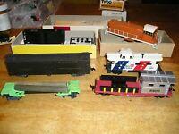 HO TRAIN LOT IX2FREG. 7 TYCO ACCURAIL MIXED FREIGHT CARS