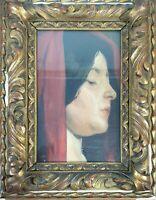 PORTRAIT DE FEMMES. HUILE SUR TOILE. MANUEL FELIU LEMUS. XIXÈME SIÈCLE.