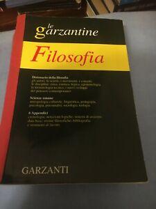 DIZIONARIO DI FILOSOFIA GARZANTI PERFETTO E NUOVO