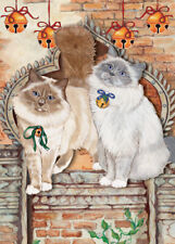 Birman Cat Christmas Cards Set of 10 cards & 10 envelopes