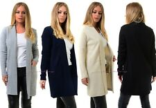 Women Open Knitted Sweater Casual Long Sleeve Cardigan Jacket Smart Coat Top.