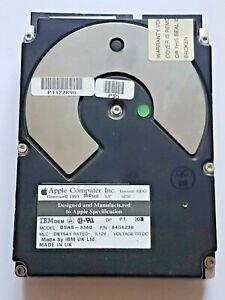 "360 MB IBM DSAS-3360 Pn 84G6230 4500RPM Fast SCSI-2 50-Pin 192KB 3,5 "" Hard"