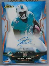 2014 Topps Finest Blue Refractor Jarvis Landry Auto Rc # 17/25