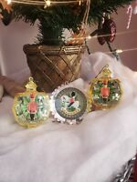 Vintage Toy Soldier Christmas Tree Ornaments. Lot Of 3