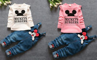 2pcs Toddler Baby Girls Minnie Outfits tops+Denim pants kids Clothes Set