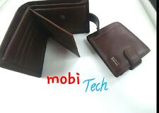 Mens Luxury Soft Quality Leather Wallet Credit Card Holder Coins New Brown