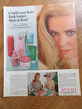 1968 Avon Cosmetics Ad Could Hair Look Better Talk with your Avon Representative