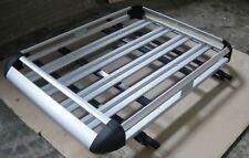 140cmx124cm Aluminium Car/4WD Roof Rack Luggage Cargo Basket + 2xCross Bar
