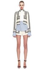 JILL STUART Lina Linen Embroidered Blazer Jacket Seen On Runway Size 4 NWT $710