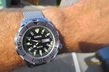 NORSK SOCHI SEIKO MONSTER  STYLE HOMAGE MAY BE NORWAY OLYMPIC WATCH? SHARK MESH