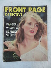 Vintage FRONT PAGE DETECTIVE Magazine November 1952 Dell Publishing Co.