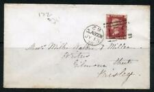 GB 1875 1d Penny red, Plate 172 on Cover. Glasgow 159 Duplex, Inverted 2 in date