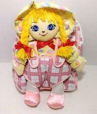 Rag Doll Plush Yellow Hair Back Pack Toy
