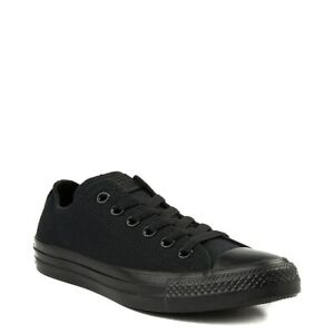Converse All Star Low Womens &Mens Canvas Chuck Taylor Trainers Shoes Black Mono